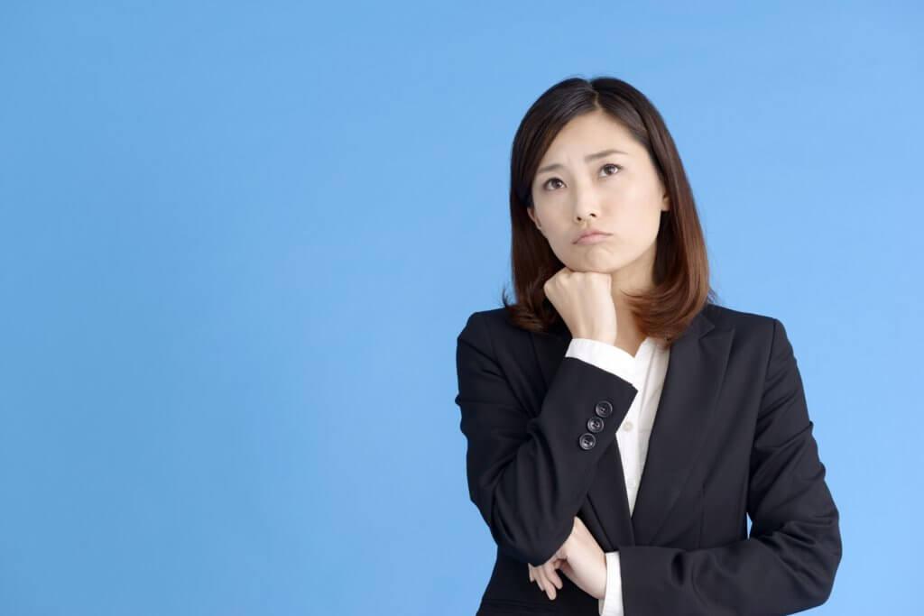 退職考える女性